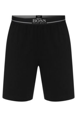 Shorts loungewear en algodón elástico , Negro