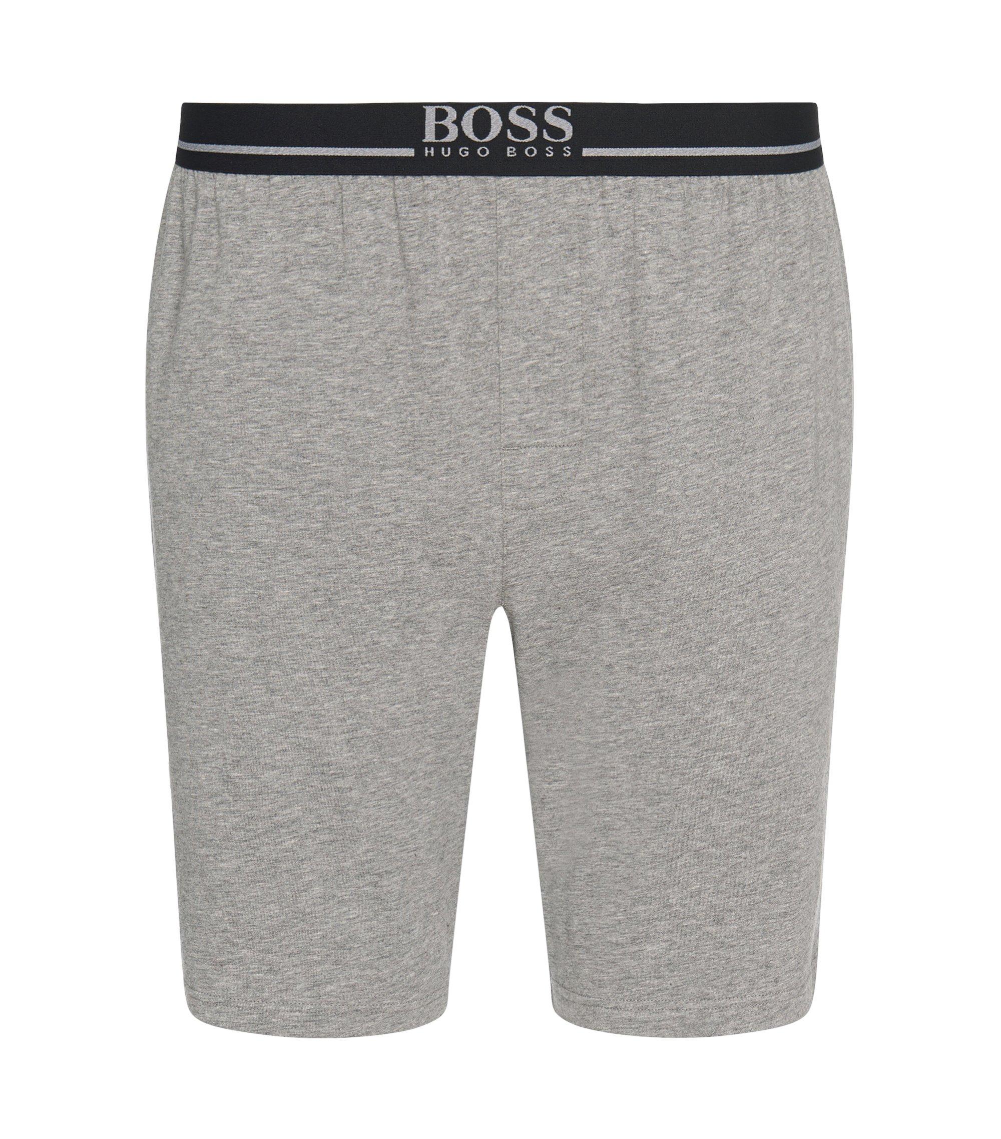 Legere Shorts aus Stretch-Baumwolle , Grau
