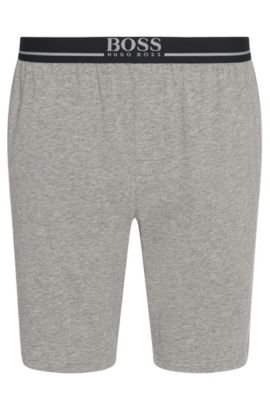 Loungewear shorts in stretch cotton , Grey