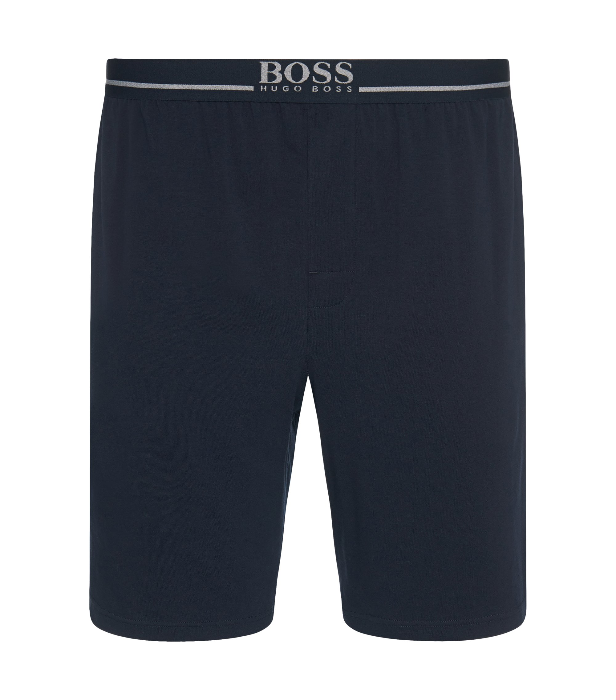 Loungewear shorts in stretch cotton , Dark Blue