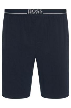 Short d'intérieur en coton stretch, Bleu foncé