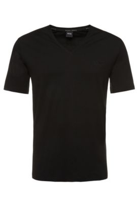 T-shirt regular fit in misto cotone elasticizzato: 'Shirt VN' , Nero