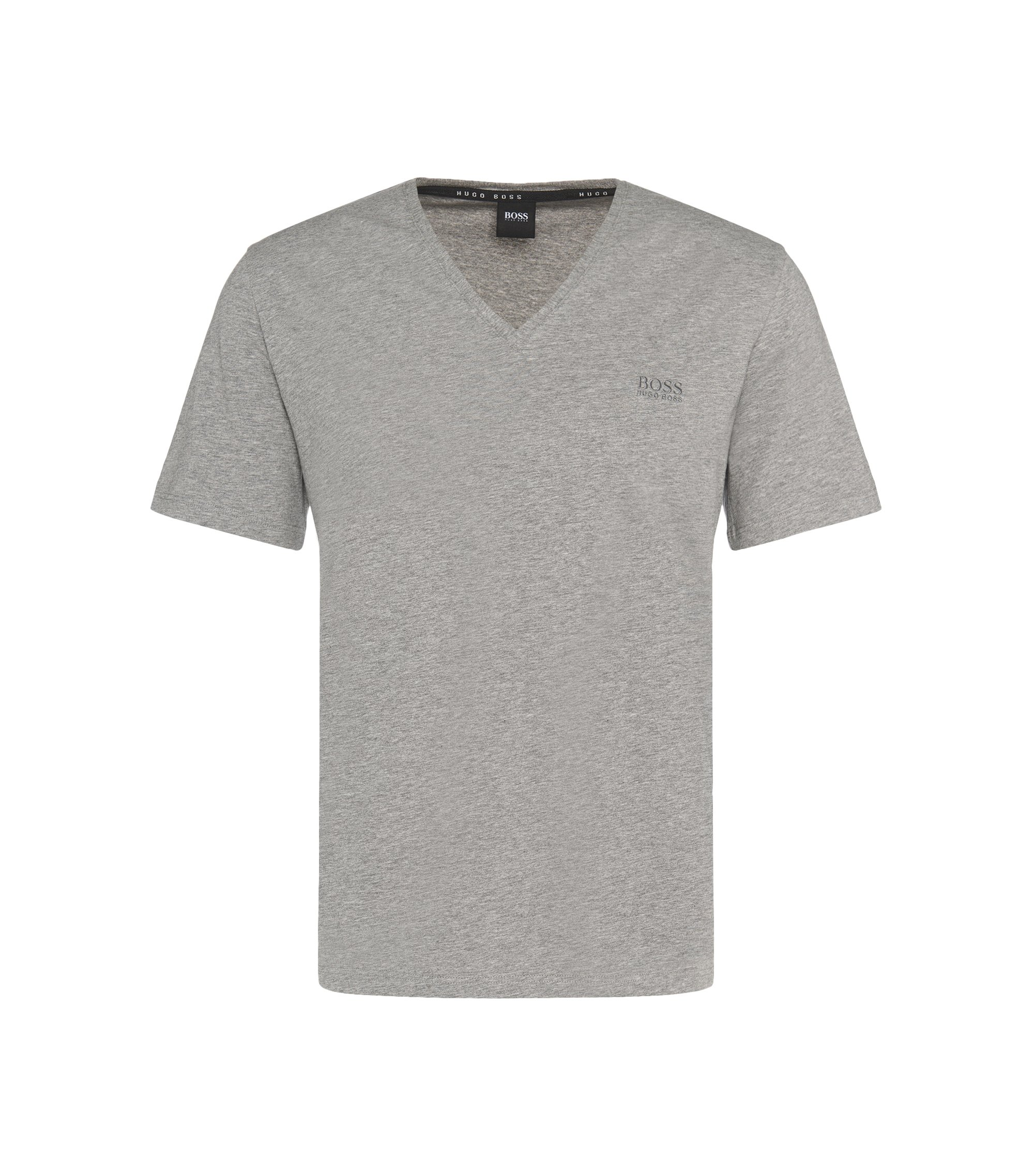 Regular Fit T-Shirt aus elastischem Baumwoll-Mix: 'Shirt VN' , Grau