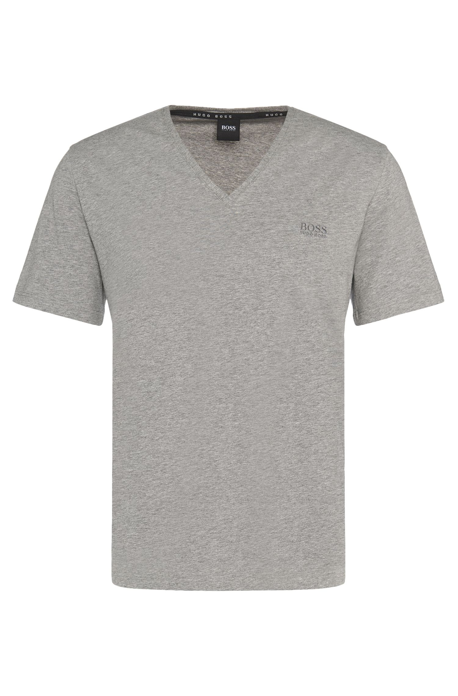 Regular-fit t-shirt in stretch cotton blend: 'Shirt VN'