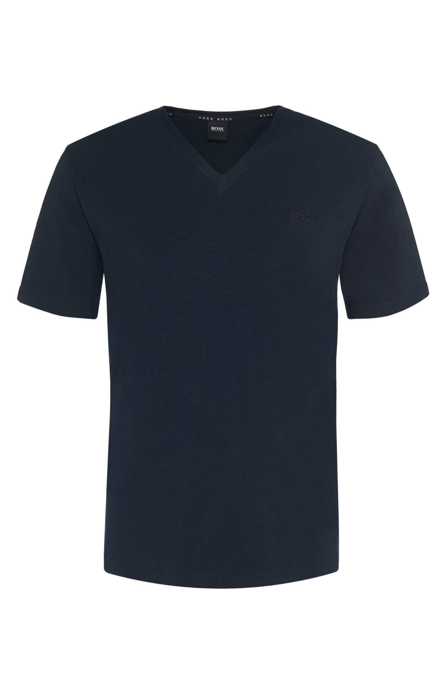 Regular-fit T-shirt van een elastische katoenmix: 'Shirt VN'