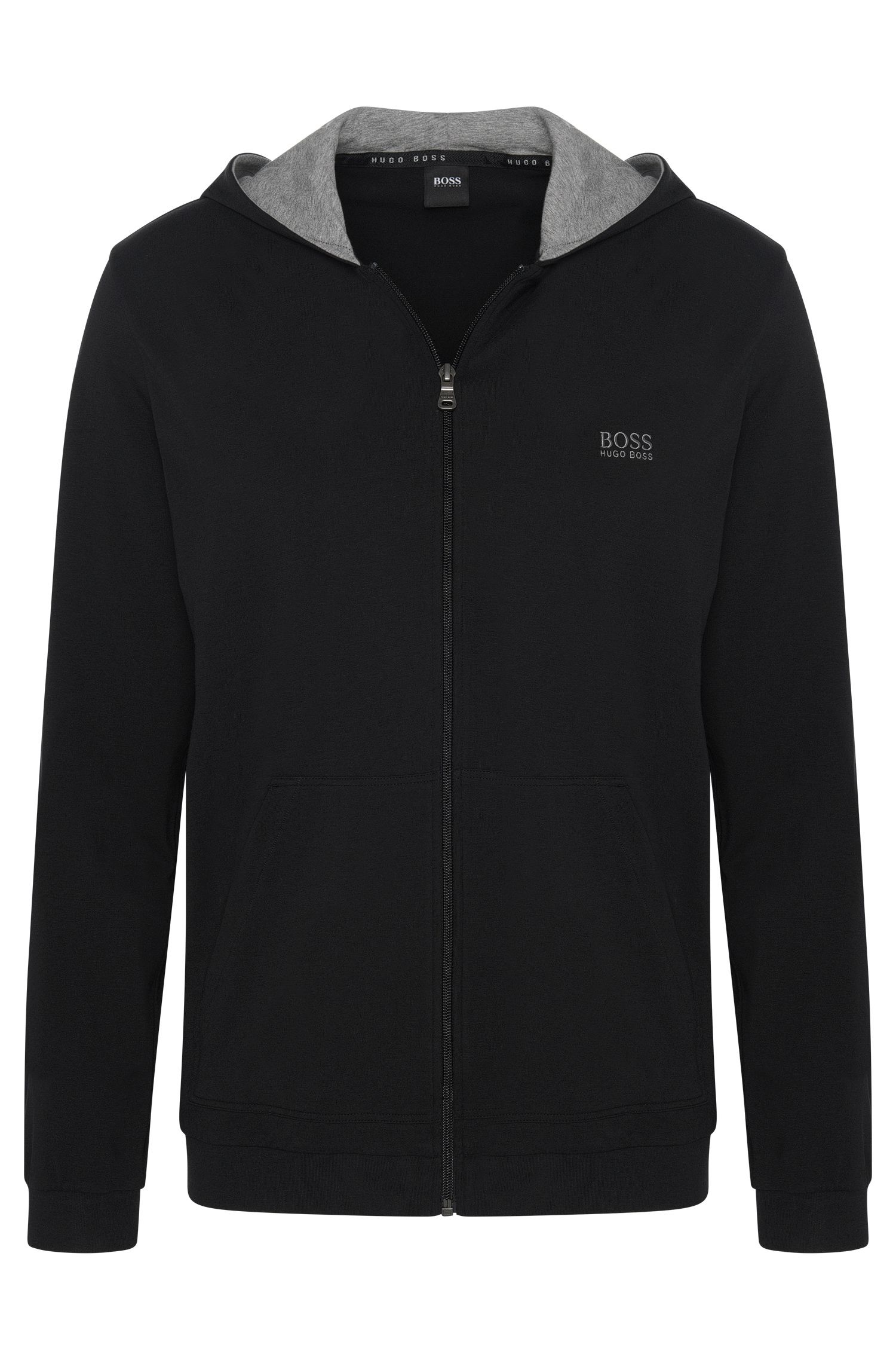 Veste à capuche en jersey de coton stretch