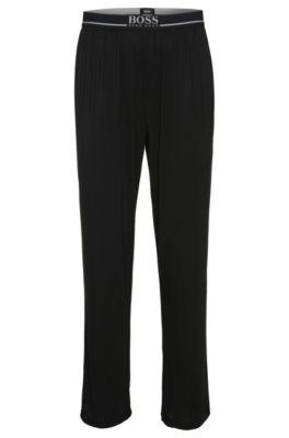 Pantaloni da jogging in misto modal elasticizzato: 'Long Pant EW', Nero