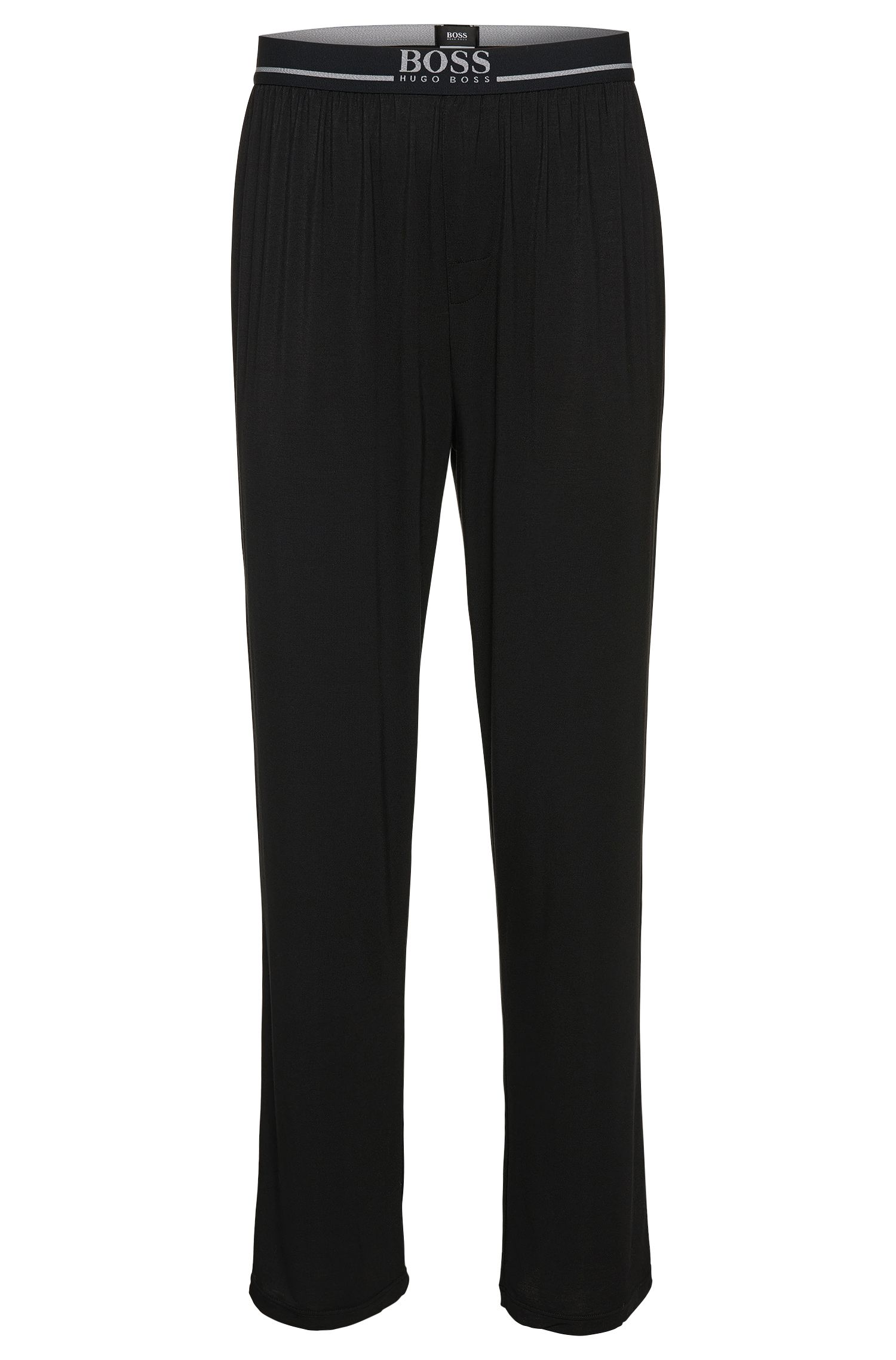 Joggers in stretch modal blend: 'Long Pant EW', Black