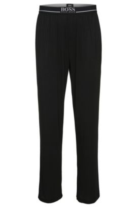 Joggingbroek van een elastische modalmix: 'Long Pant EW', Zwart