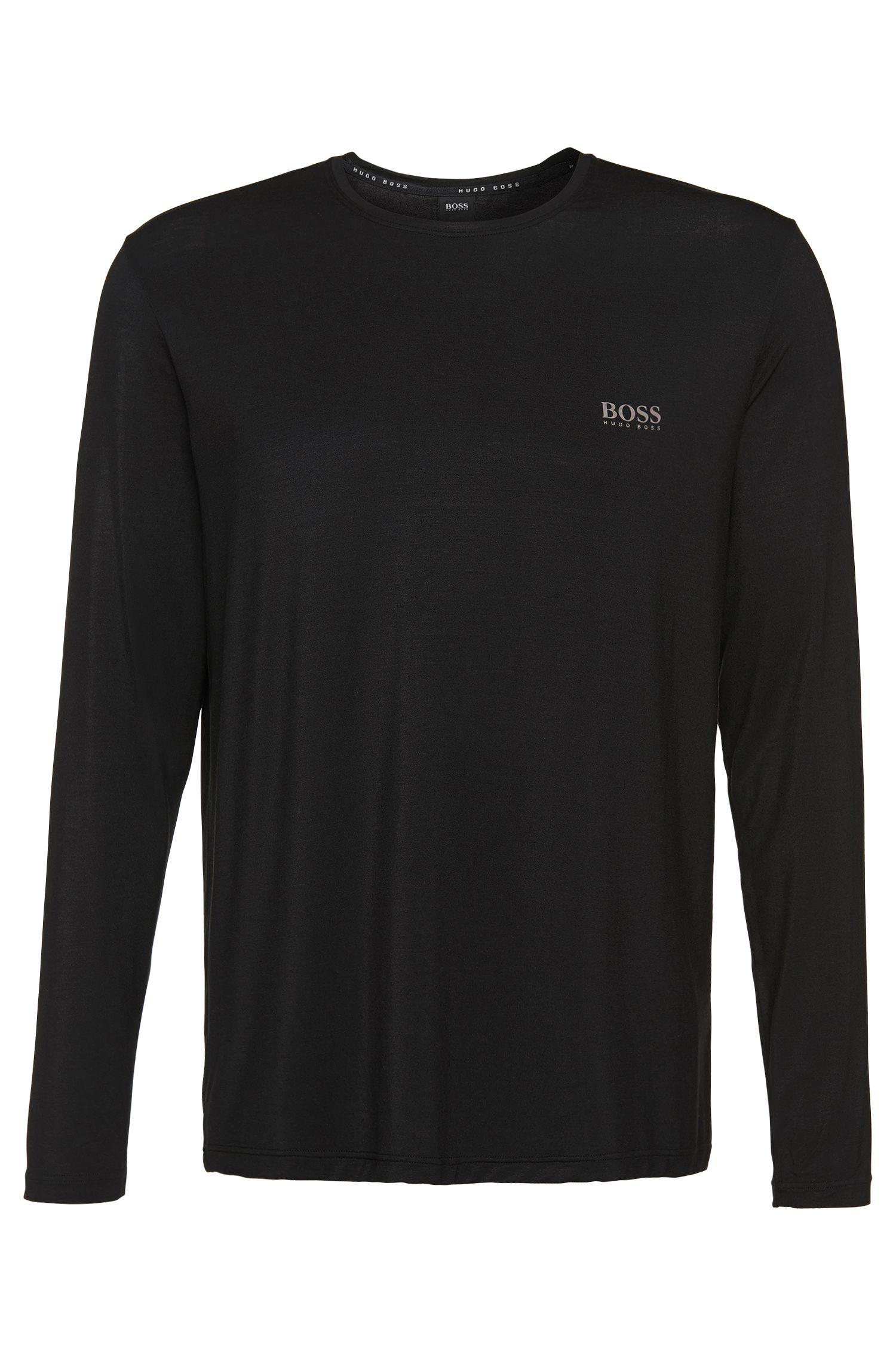 Long-sleeved shirt in stretch modal blend: 'Shirt RN LS'