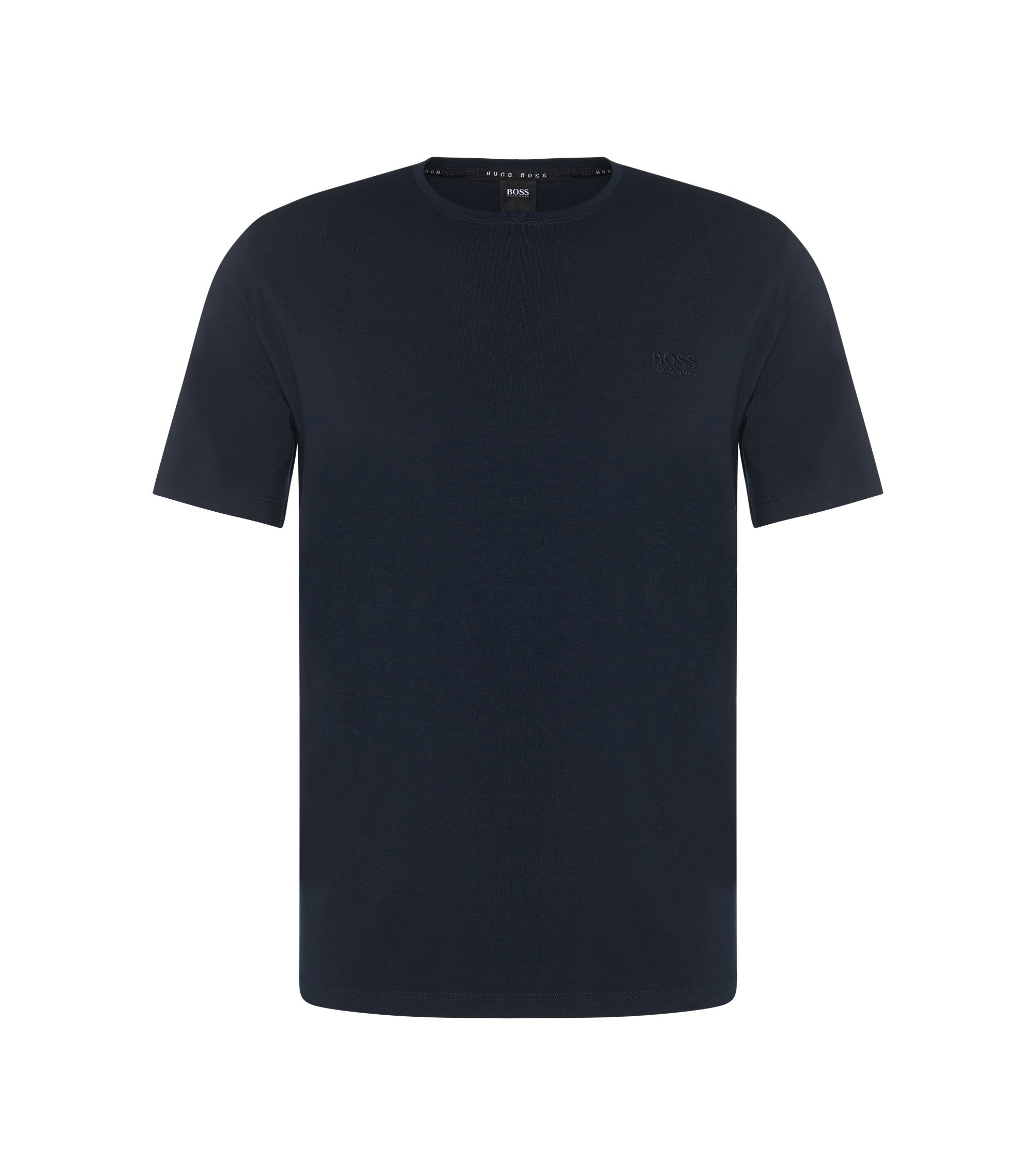 Regular-fit loungewear T-shirt in stretch cotton jersey , Dark Blue