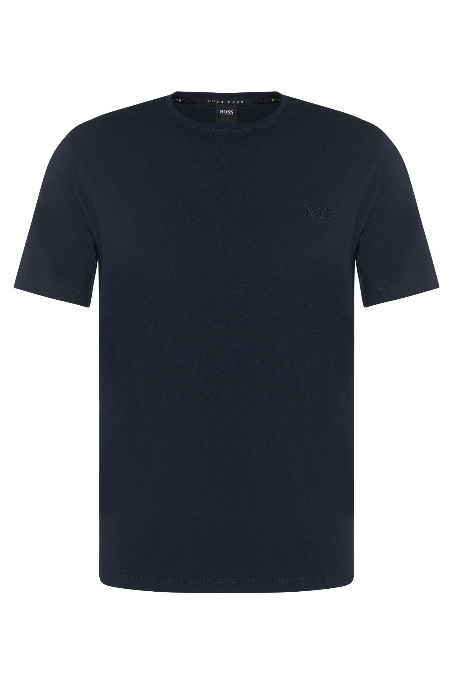 Regular-fit loungewear T-shirt in stretch cotton jersey