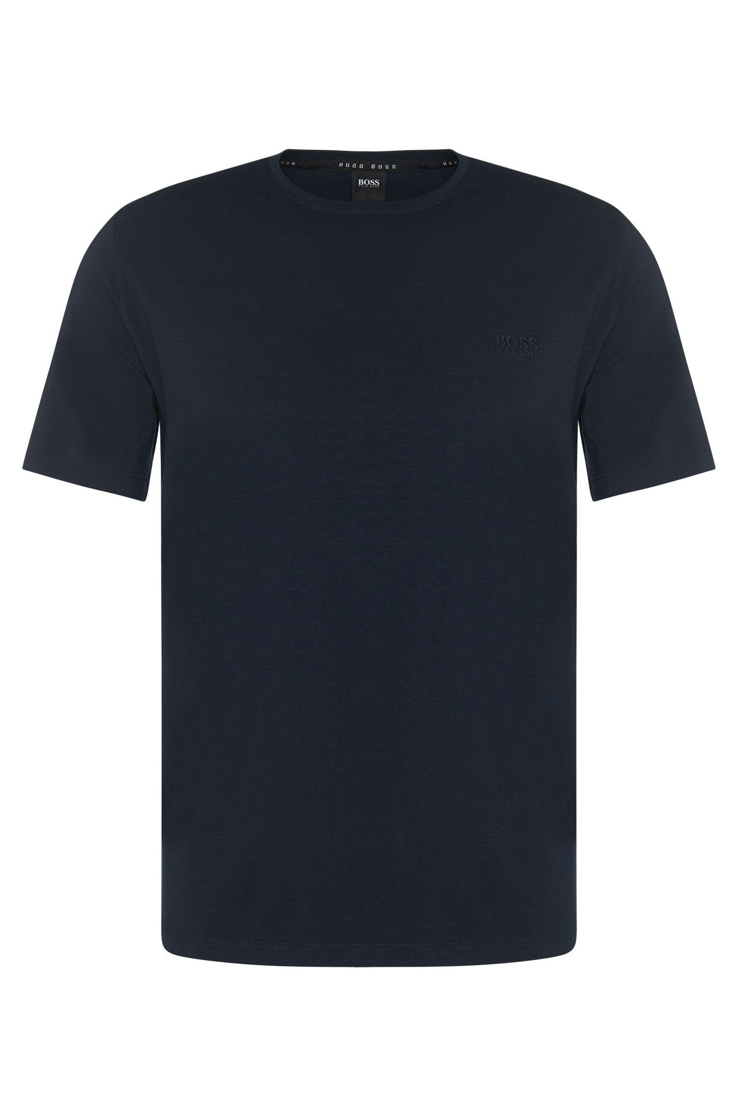 Regular-fit loungewear T-shirt in stretch cotton jersey