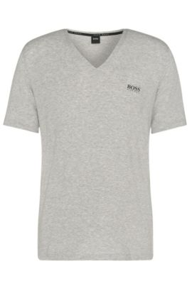 Regular-fit t-shirt in stretch modal: 'Shirt VN', Grey