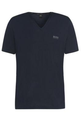 T-shirt Regular Fit en modal stretch: «ShirtVN», Bleu foncé