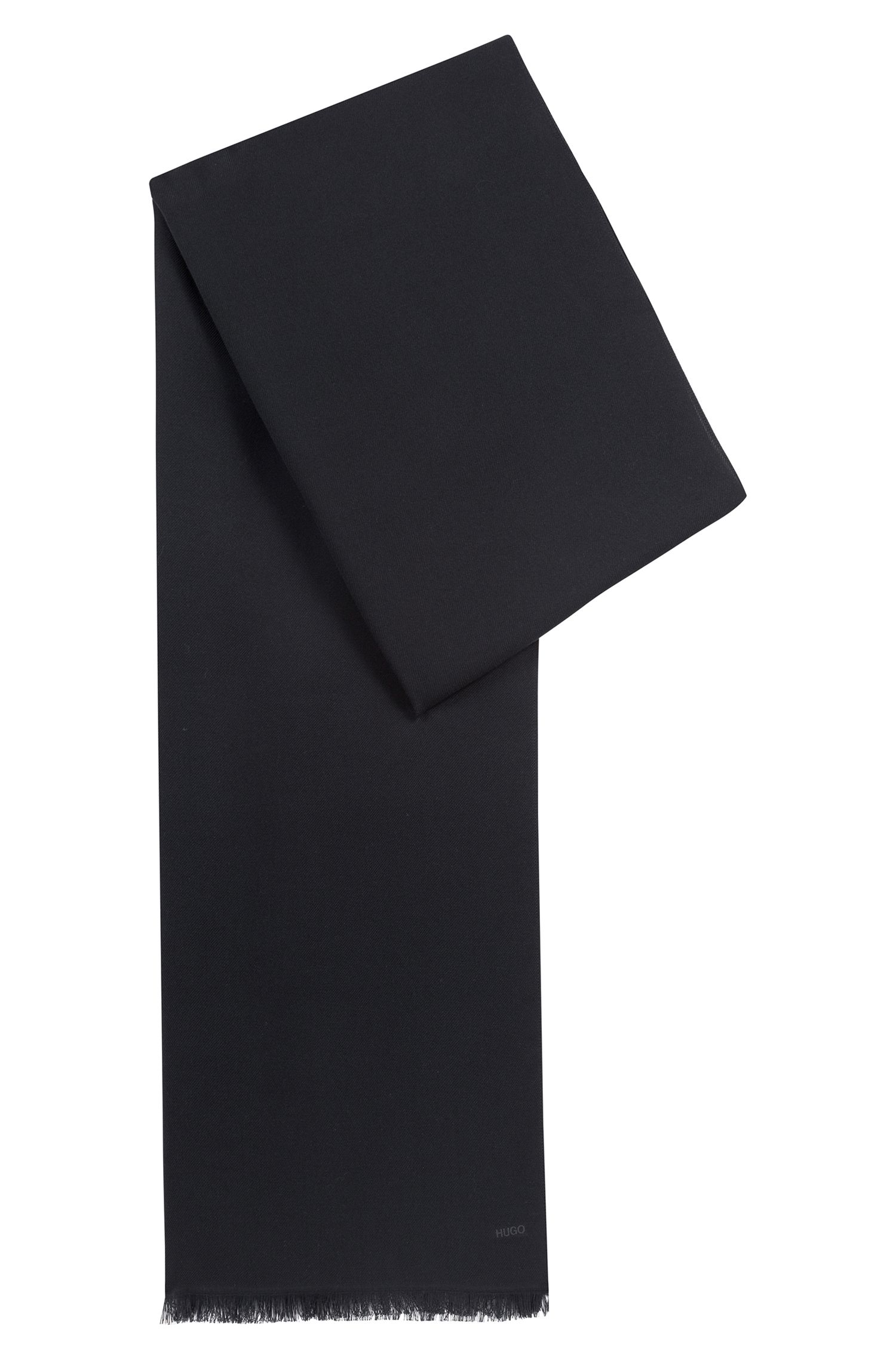 Lightweight scarf in mélange fabric, Black