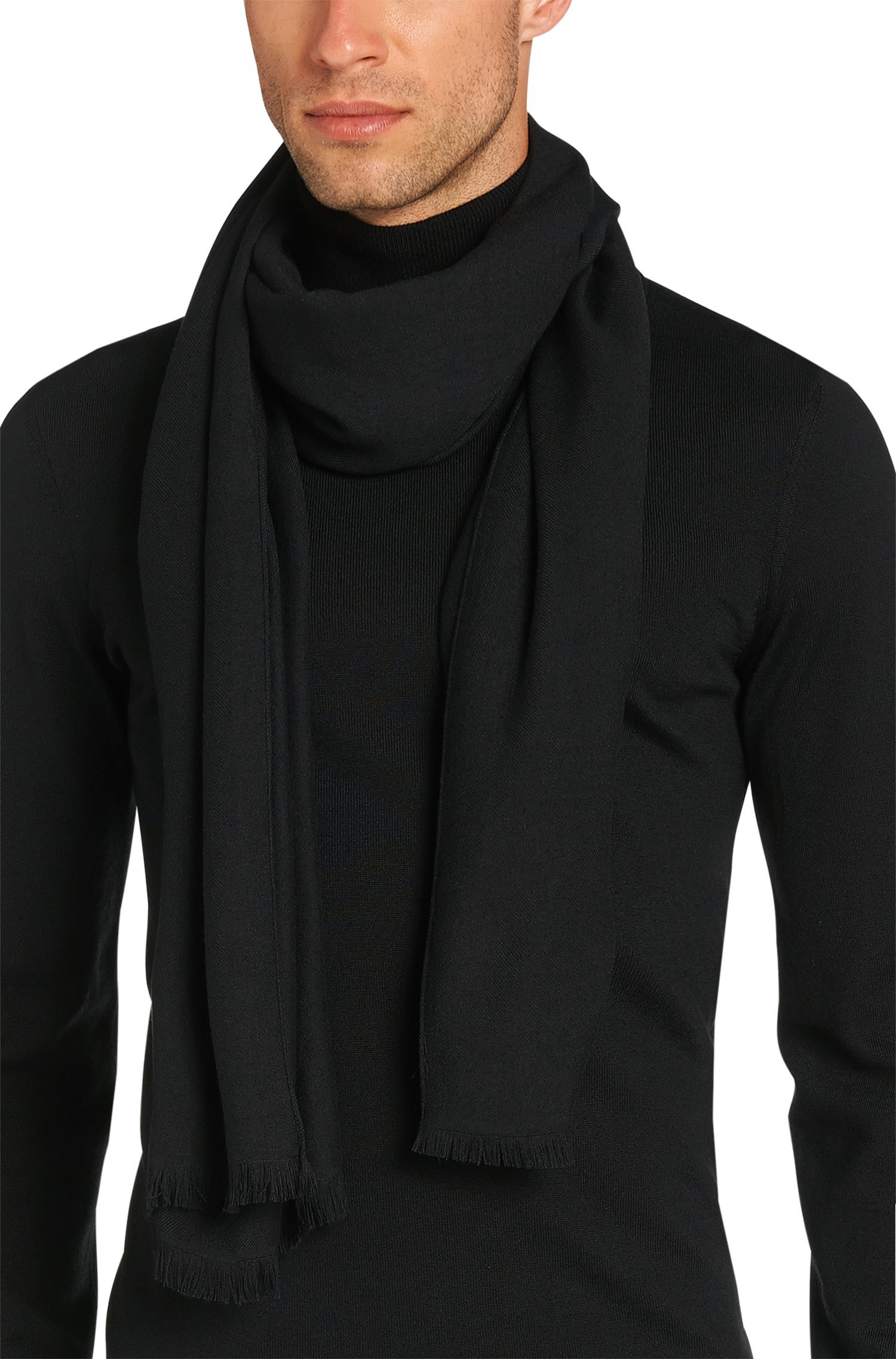 Lightweight scarf in mélange fabric