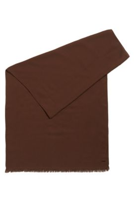 Lightweight scarf in mélange fabric, Brown