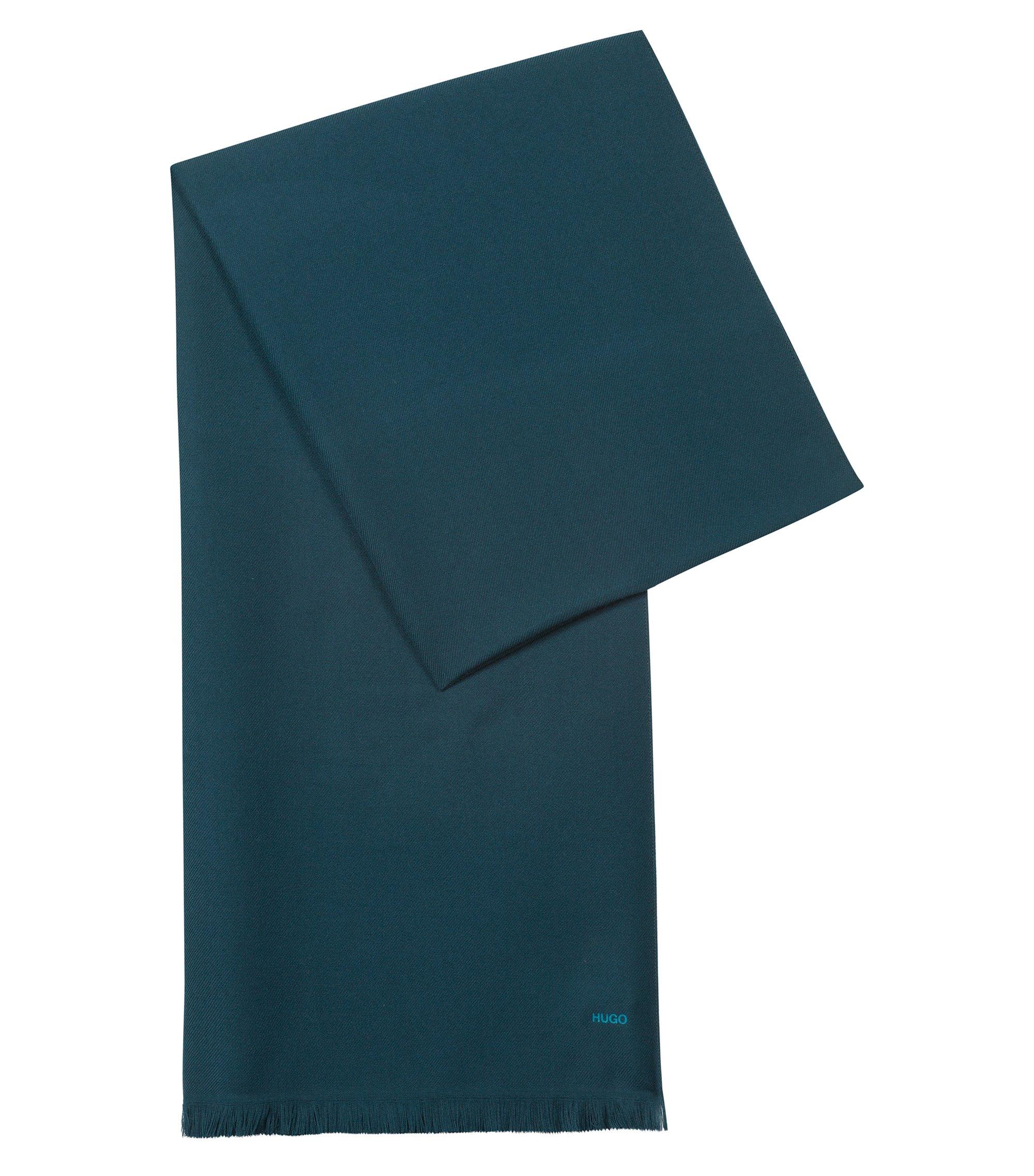 Lightweight scarf in mélange fabric, Dark Green