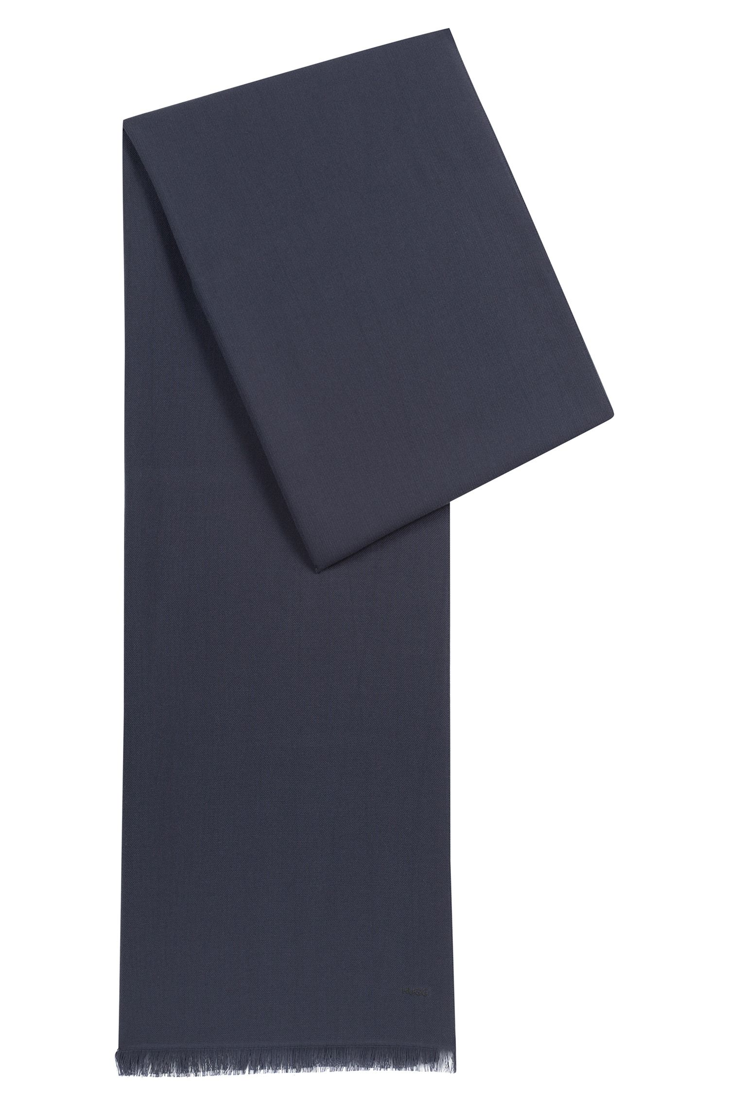 Lightweight scarf in mélange fabric, Dark Blue