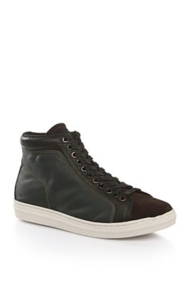 Ankle High Lace Up Shoes In Suede Pariss Desb Sd