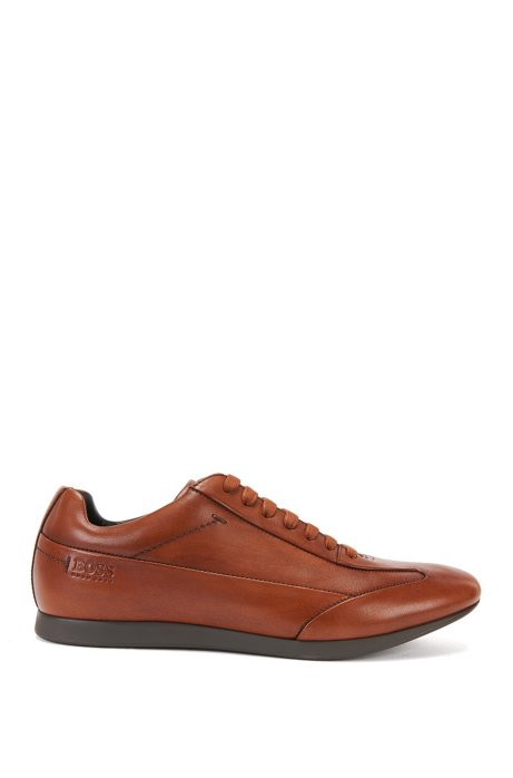 Smooth leather trainers: 'Fult', Brown