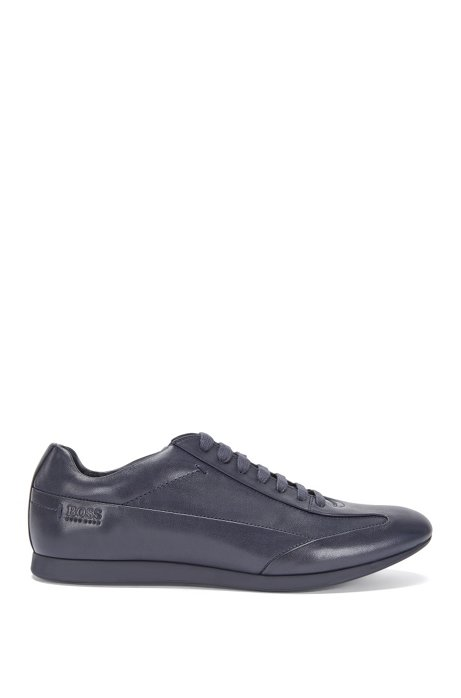 Smooth leather trainers: 'Fult', Dark Blue