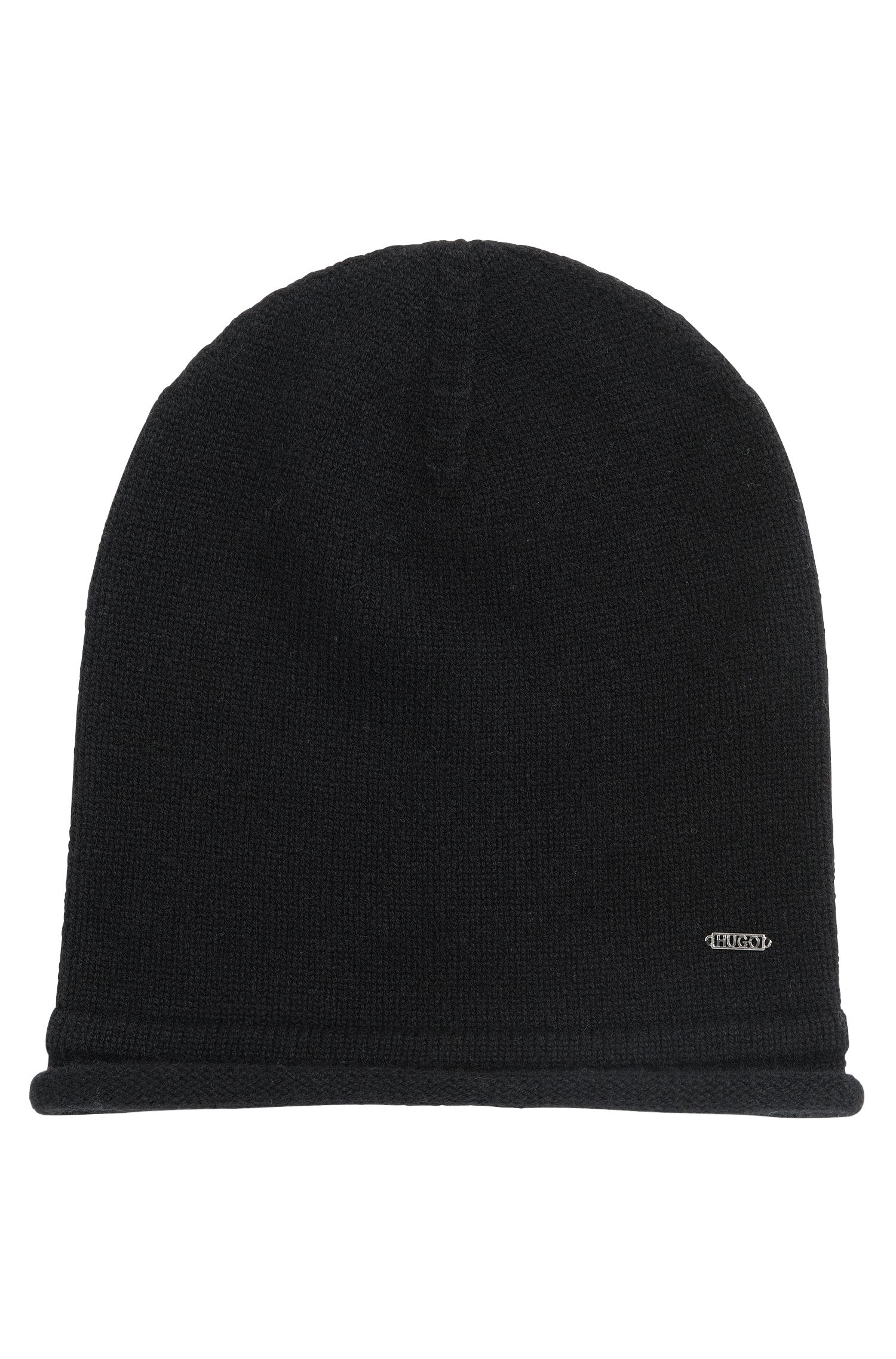Beanie hat in pure cashmere