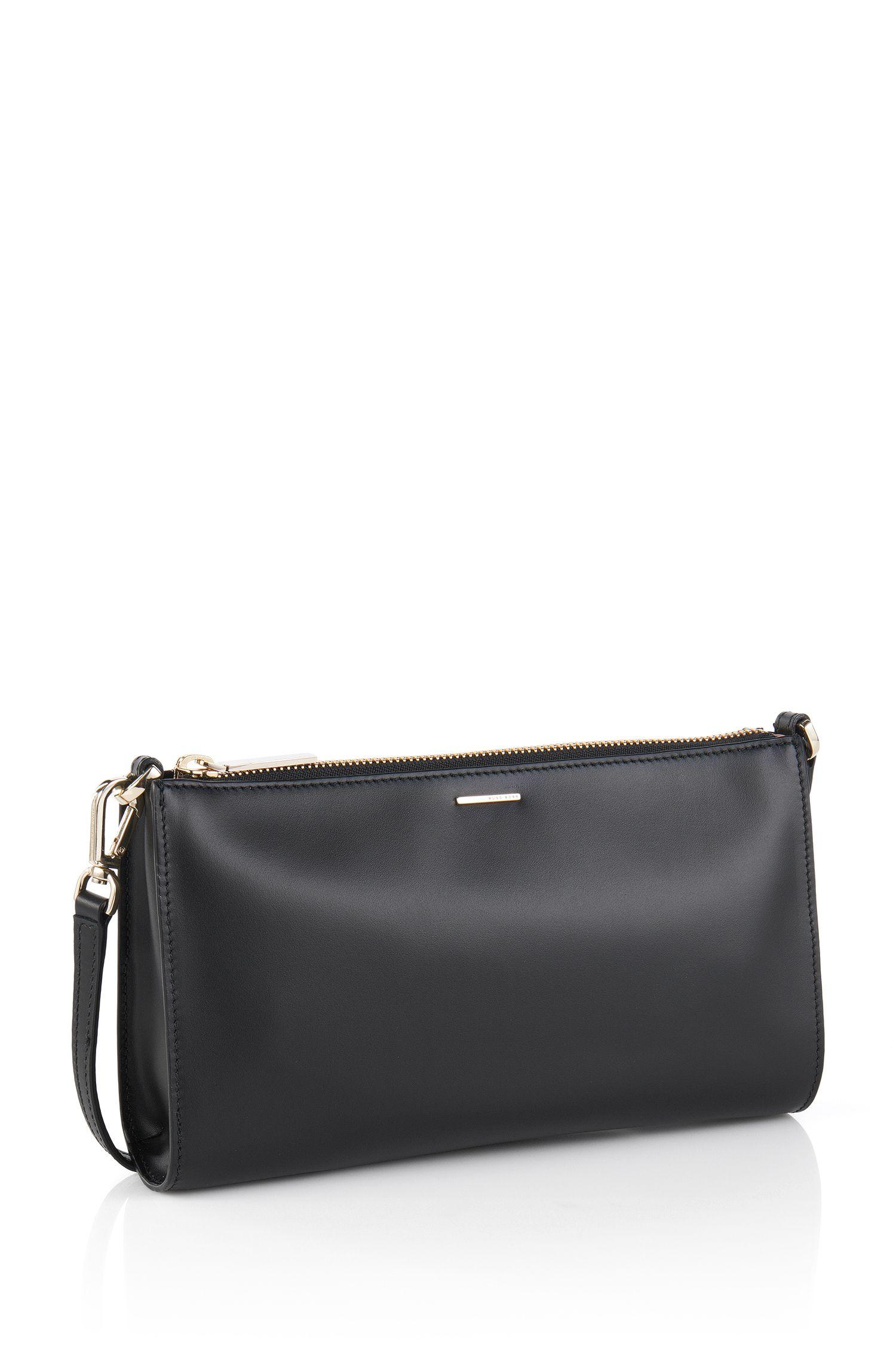 Sac à main en cuir lisse: «Staple Mini Bag-C», Noir