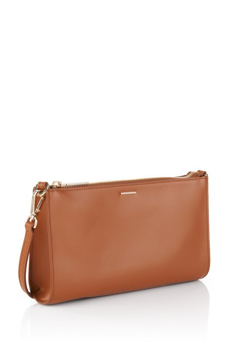 Handbag in smooth leather: 'Staple Mini Bag-C', Brown