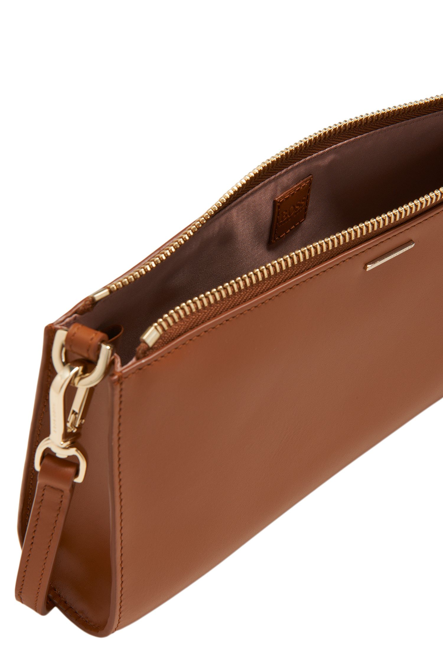 Sac à main en cuir lisse : « Staple Mini Bag-C », Marron