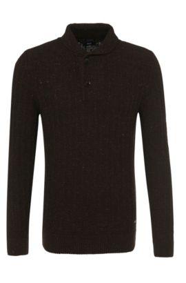 Pull en laine: «Elamar», Noir
