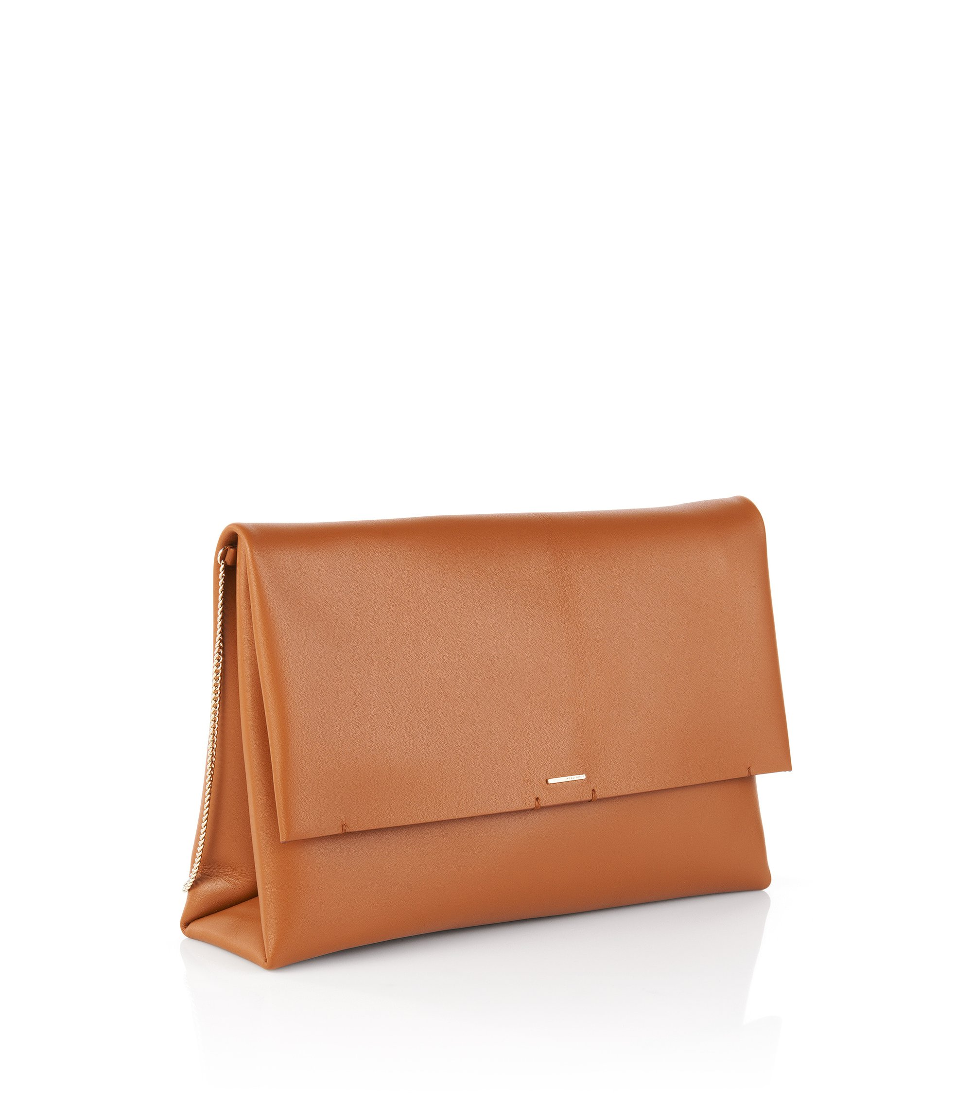 Clutch aus Leder: 'Luxury Staple C', Braun