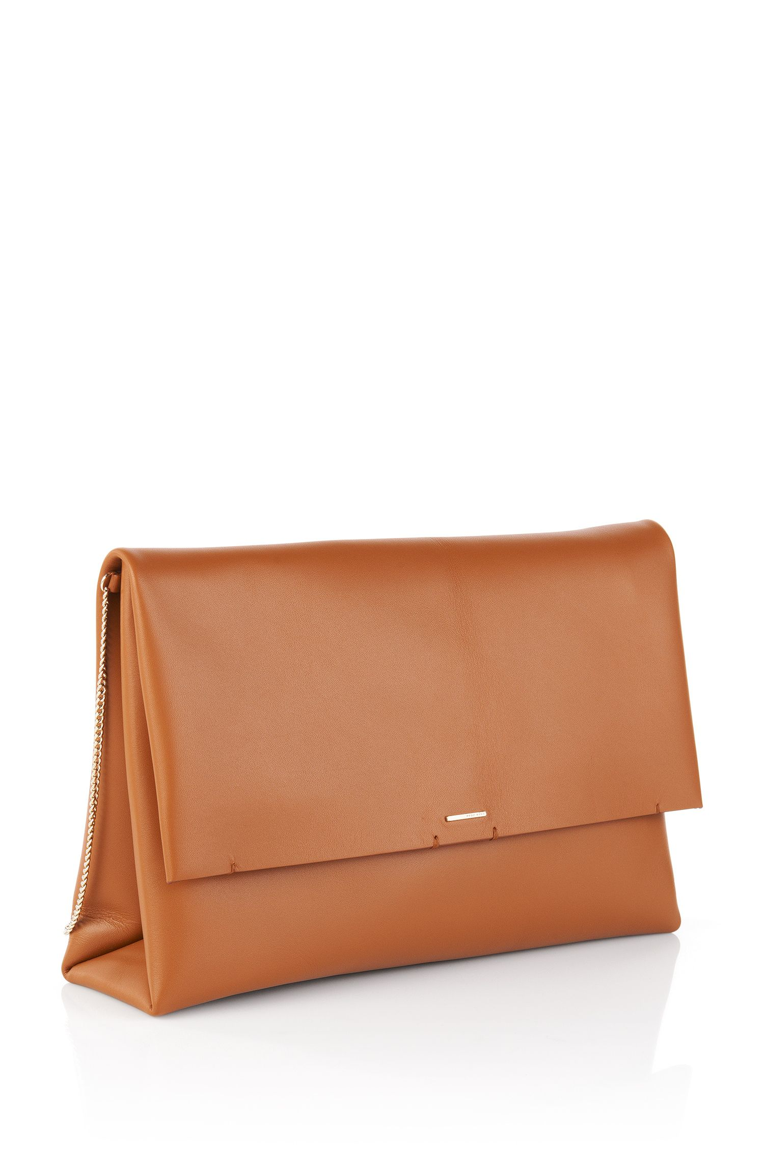 Clutch van leer: 'Luxe Staple C'