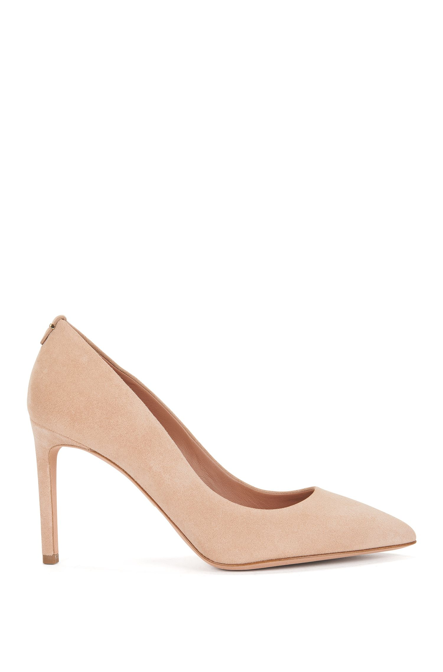 BOSS Luxury Staple Pumps aus italienischem Veloursleder