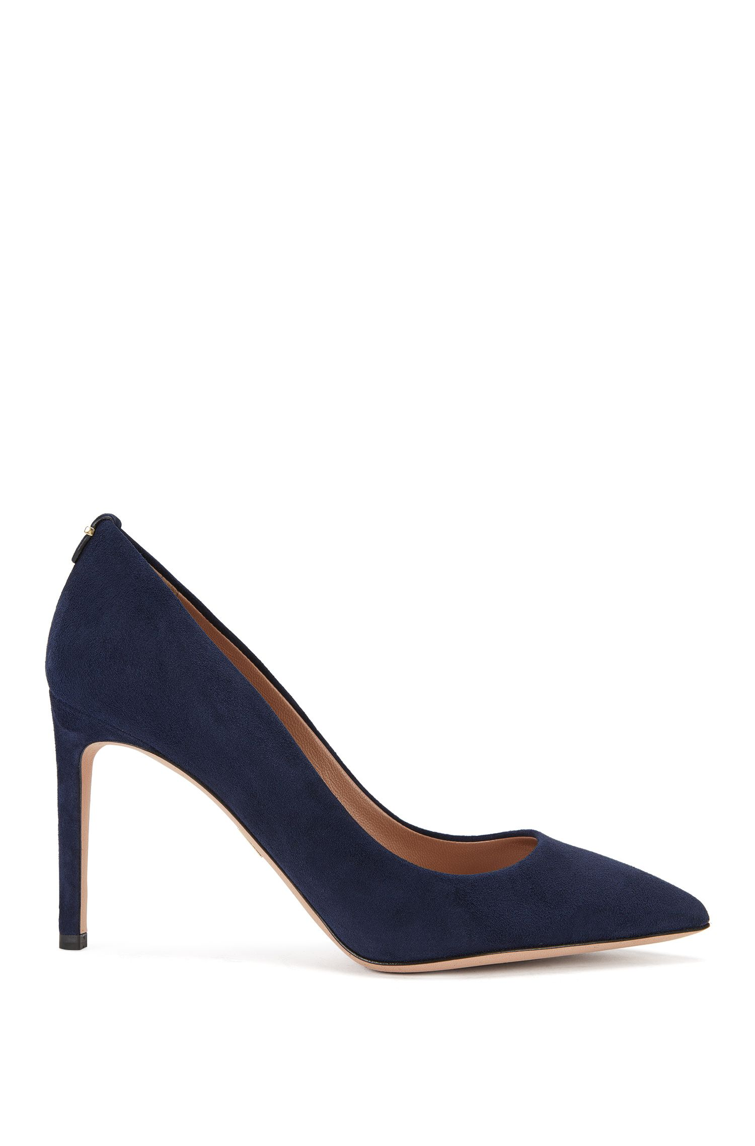 BOSS Luxury Staple pumps in Italian suede