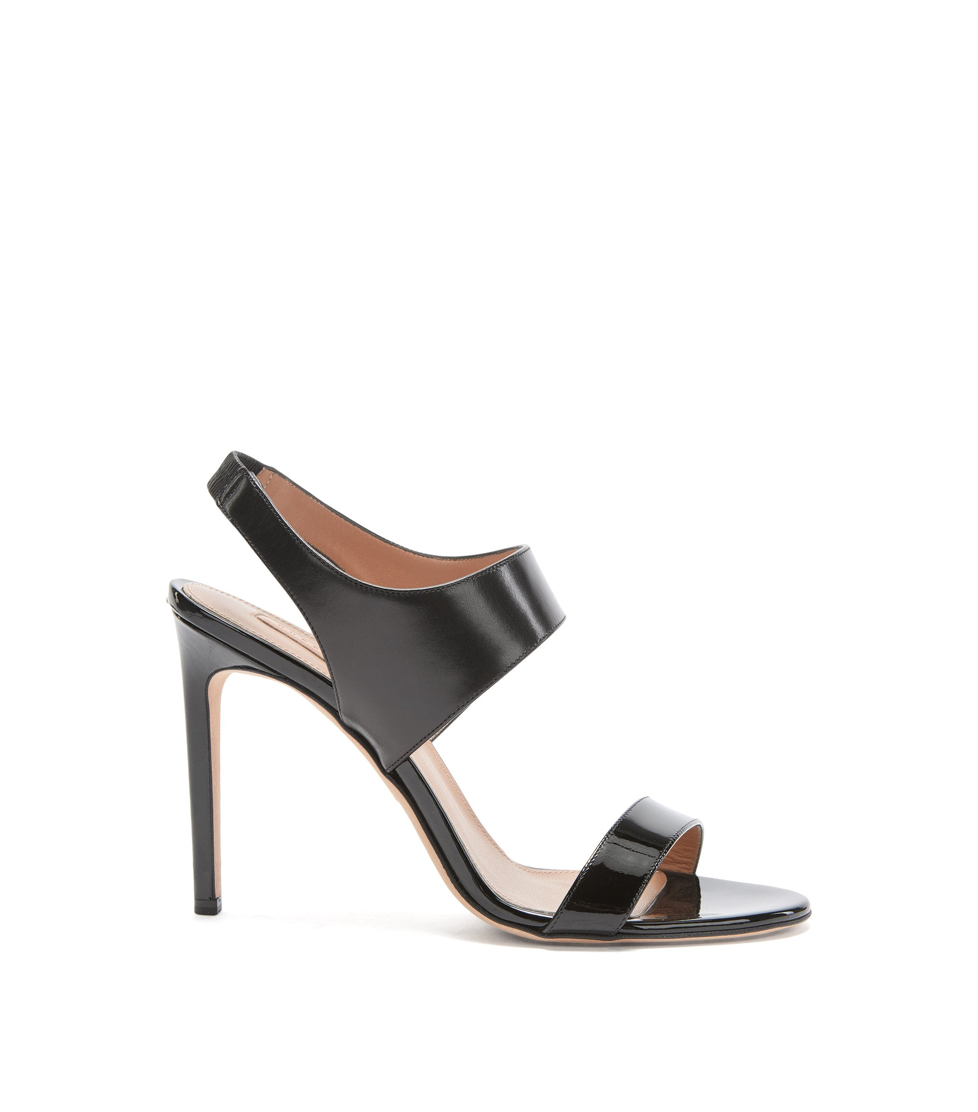 BOSS Luxury Staple sandals in rich Italian leather , Black