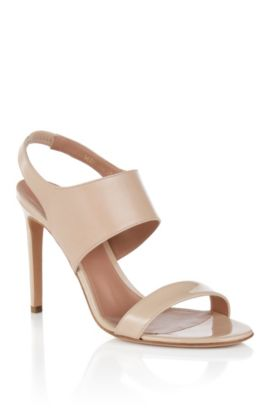 BOSS Luxury Staple sandals in rich Italian leather , Light Beige