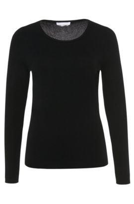Sweater in pure cashmere: 'Fayna', Black