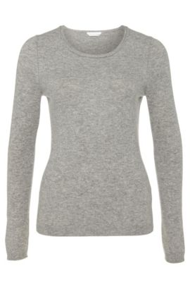 Sweater in pure cashmere: 'Fayna', Grey