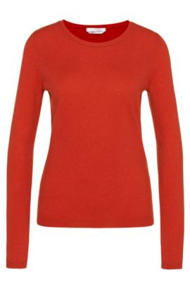Sweater in pure cashmere: 'Fayna', Red