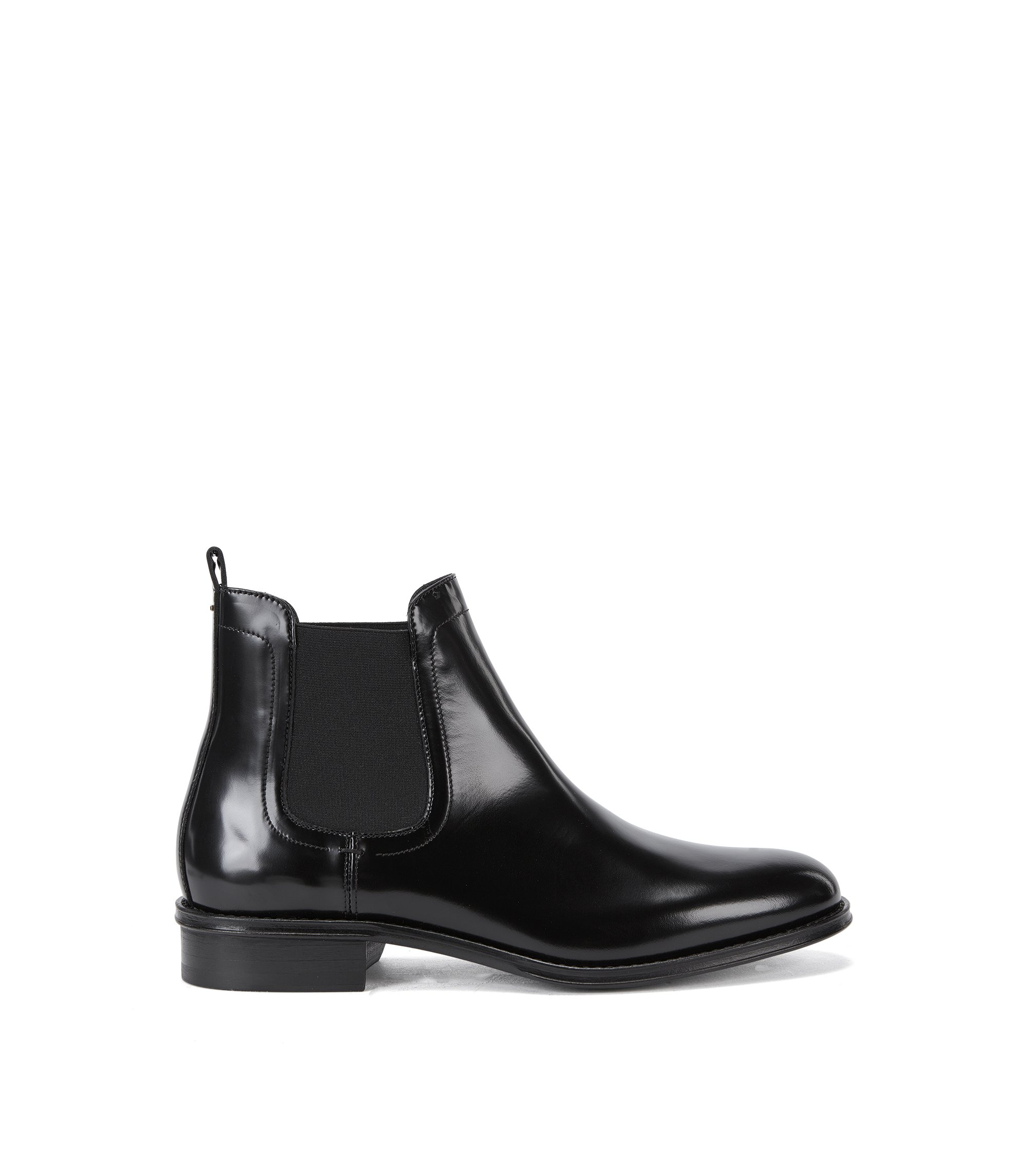 Bottines Chelsea contemporaines en cuir italien, Noir