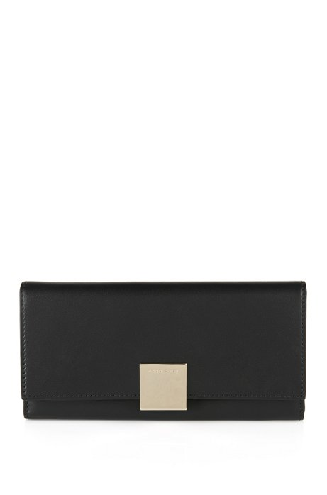 Leather wallet: 'Munich Continental', Black
