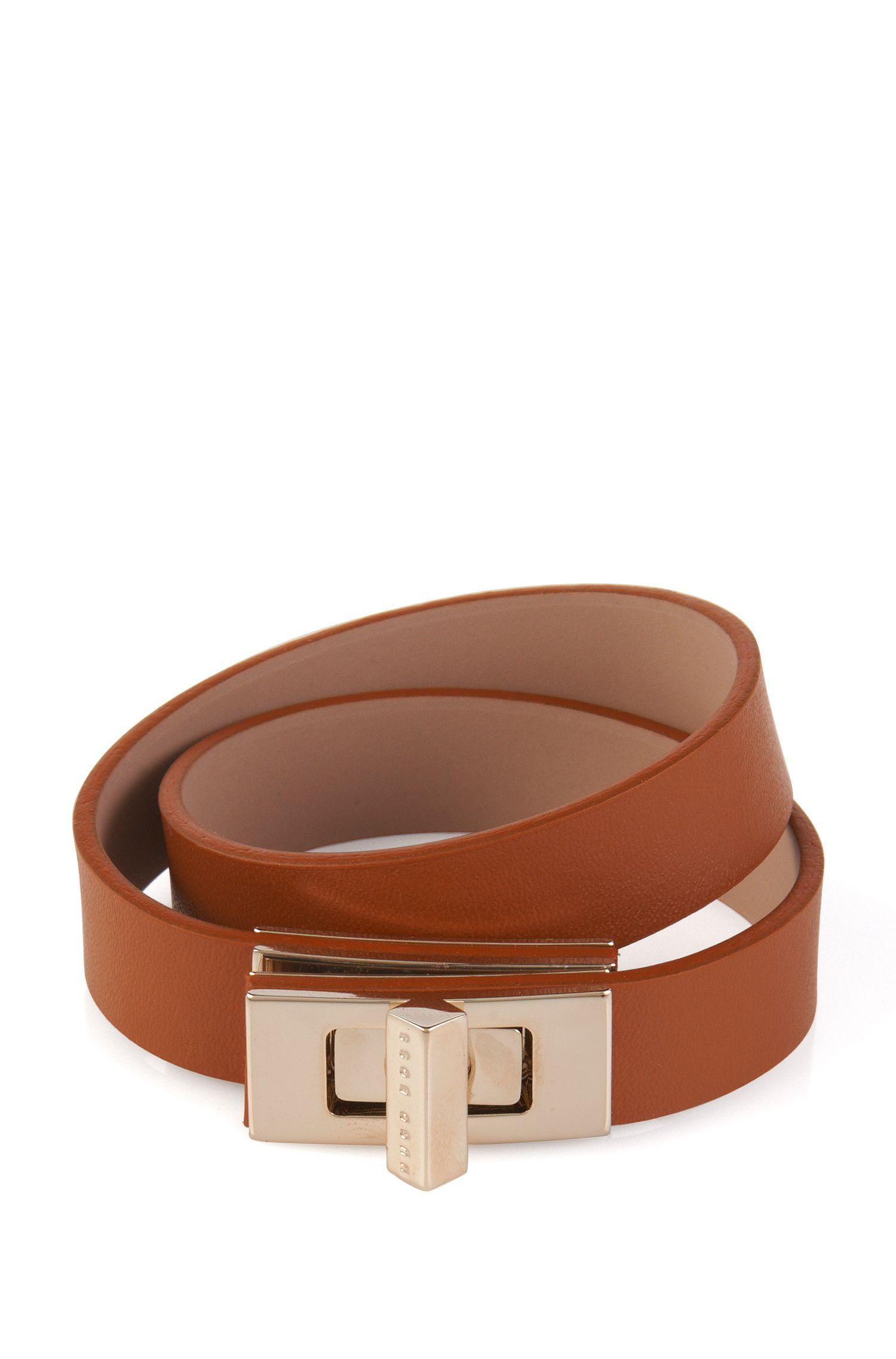 Plain BOSS Bespoke bracelet in leather