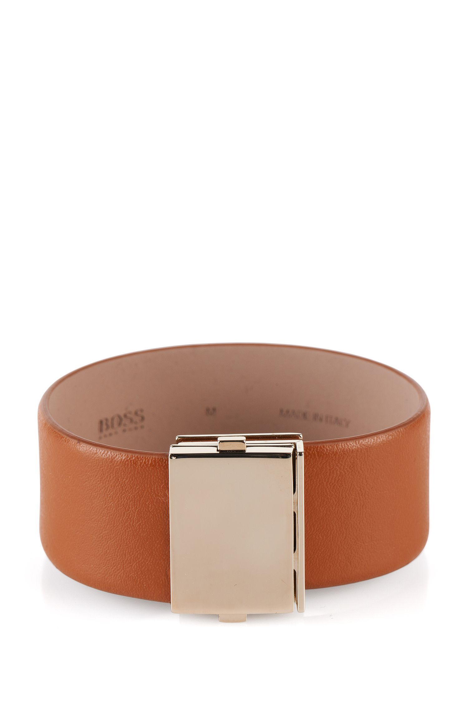 Leather bracelet: 'Romi bracelet', Brown