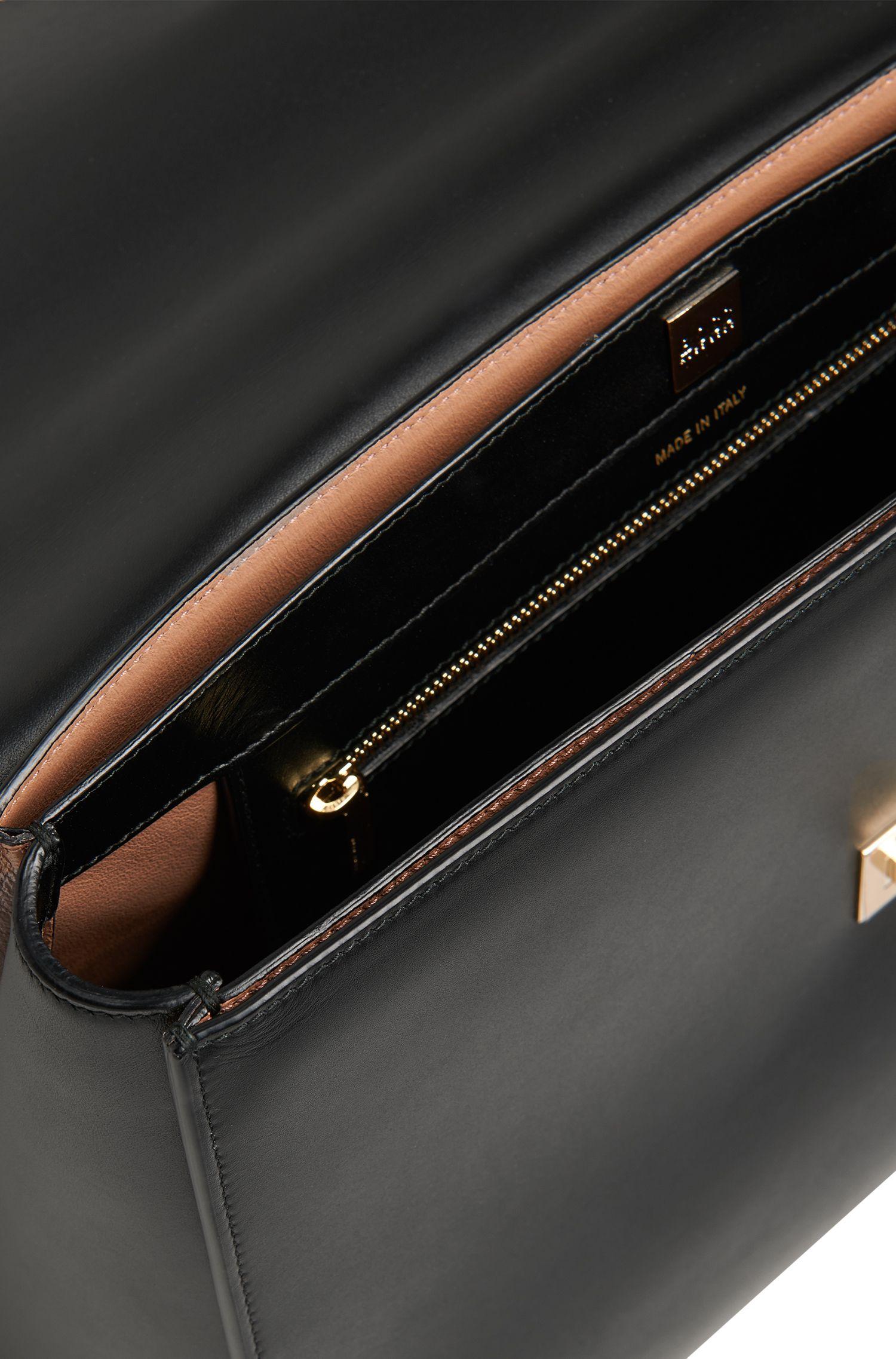BOSS Bespoke Handtasche aus glattem Leder