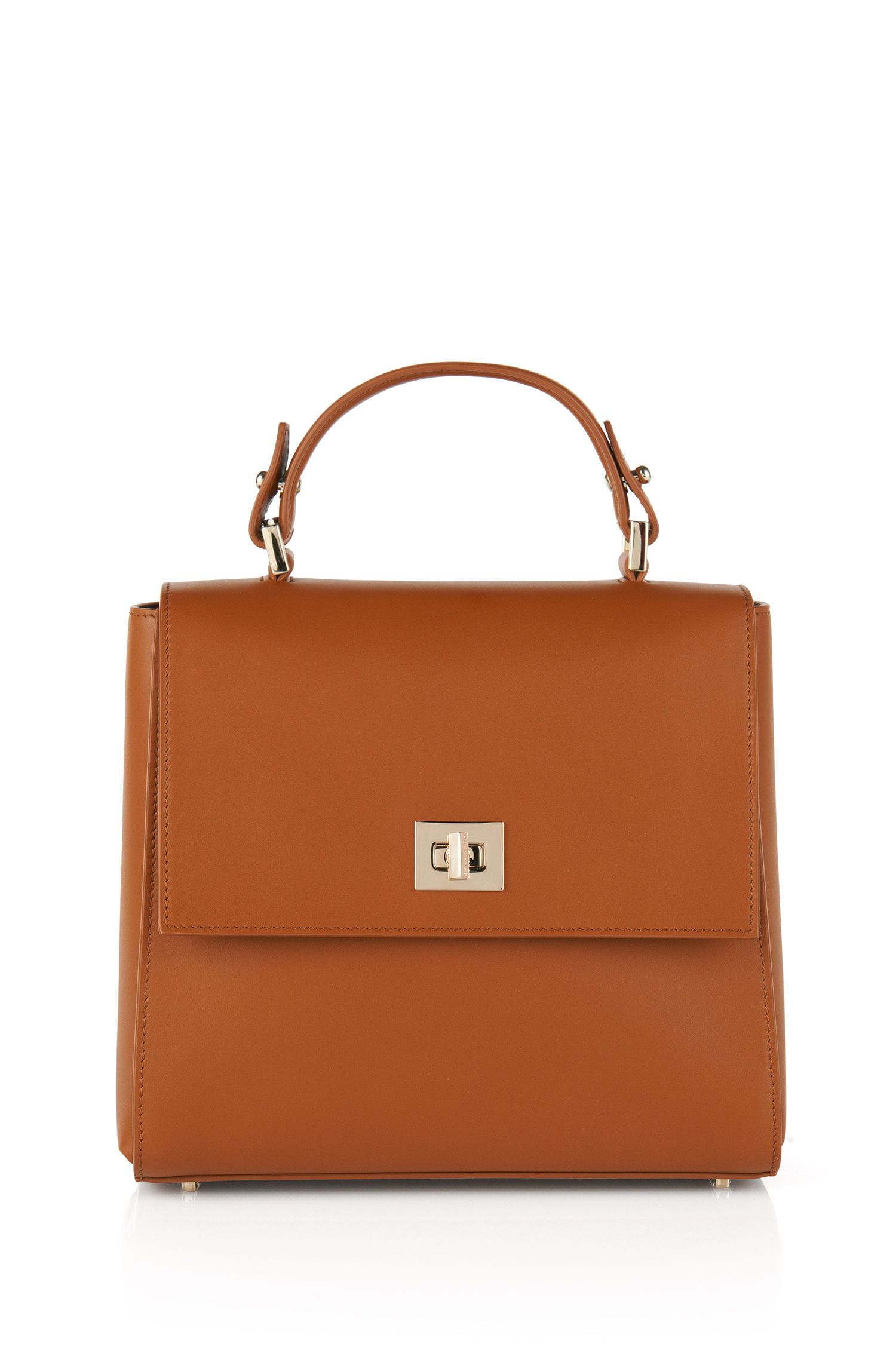 Piccola borsa BOSS Bespoke in pelle, Marrone