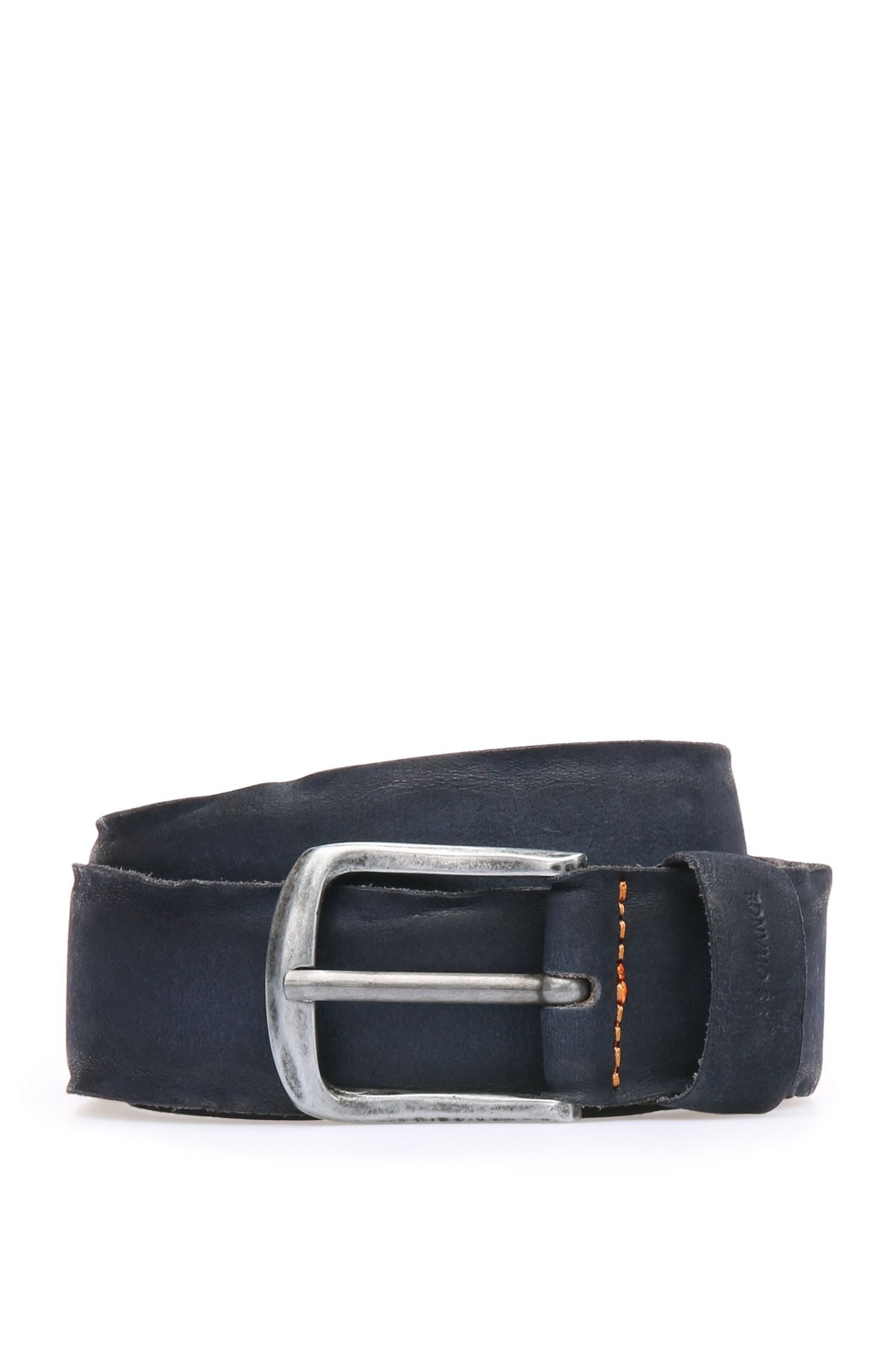 Belt in washed leather: 'Biboly'