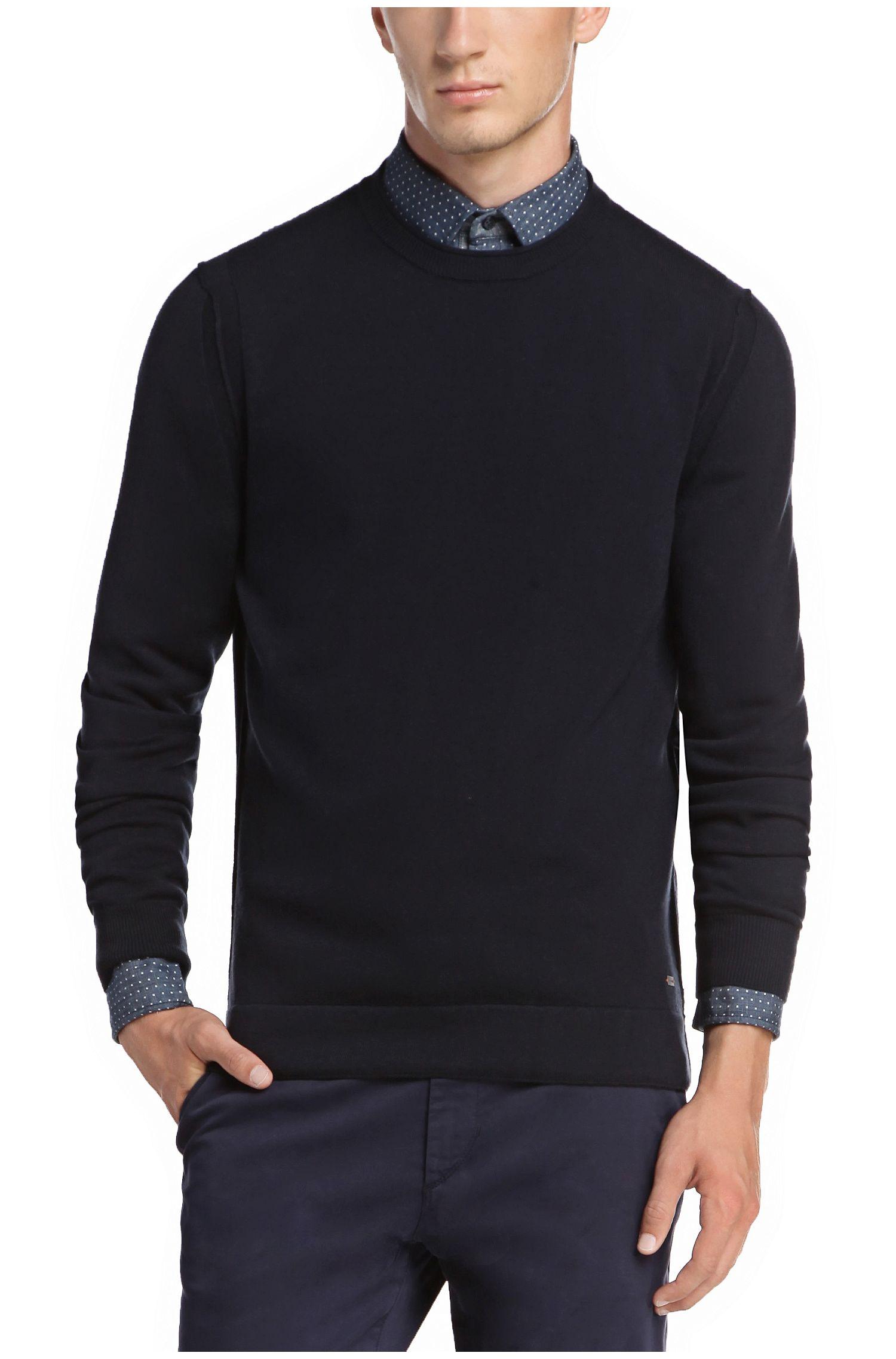 Pullover aus Baumwoll-Mix mit Schurwolle: ´Albinon`