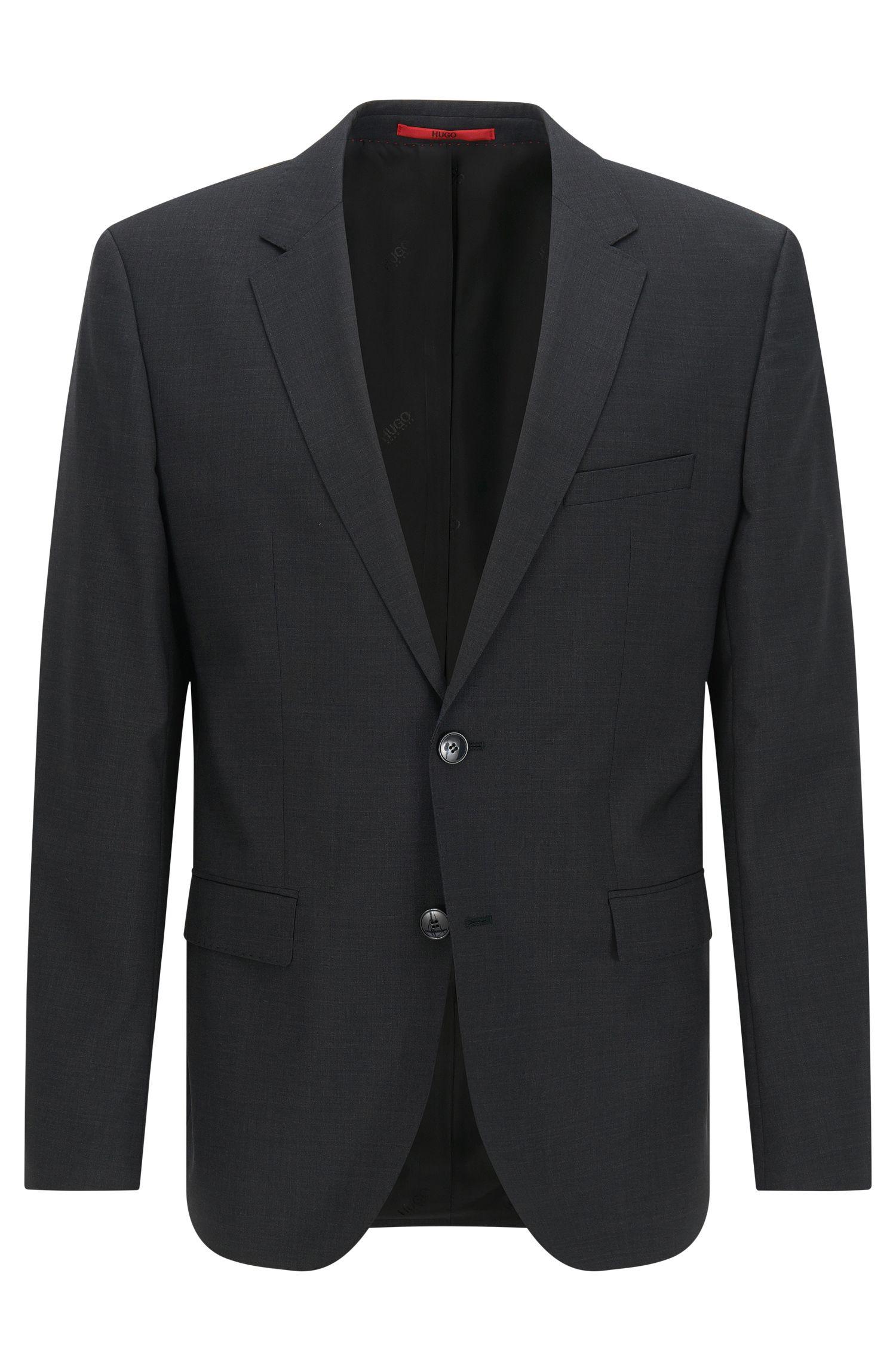 Regular-fit suit jacket in virgin wool